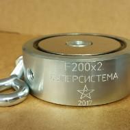 Поисковый магнит Суперсила, F200x2